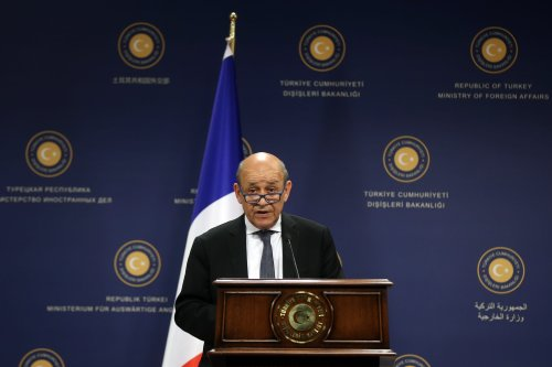 Minister of Foreign Affairs of France, Jean-Yves Le Drian in Ankara, Turkey on 13 June, 2019 [Evrim Aydın/Anadolu Agency]