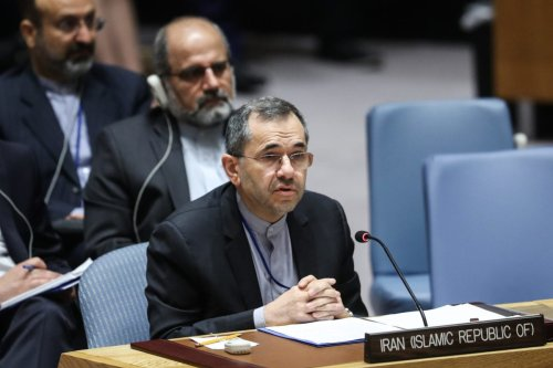 Iran's Ambassador to the United Nations (UN) Majid Takht Ravanchi delivers a speech during the UN Security Council on implementation of the resolution that endorsed the Iran nuclear deal at United Nations Headquarters in New York, United States on 26 June 2019. [Atılgan Özdil - Anadolu Agency]