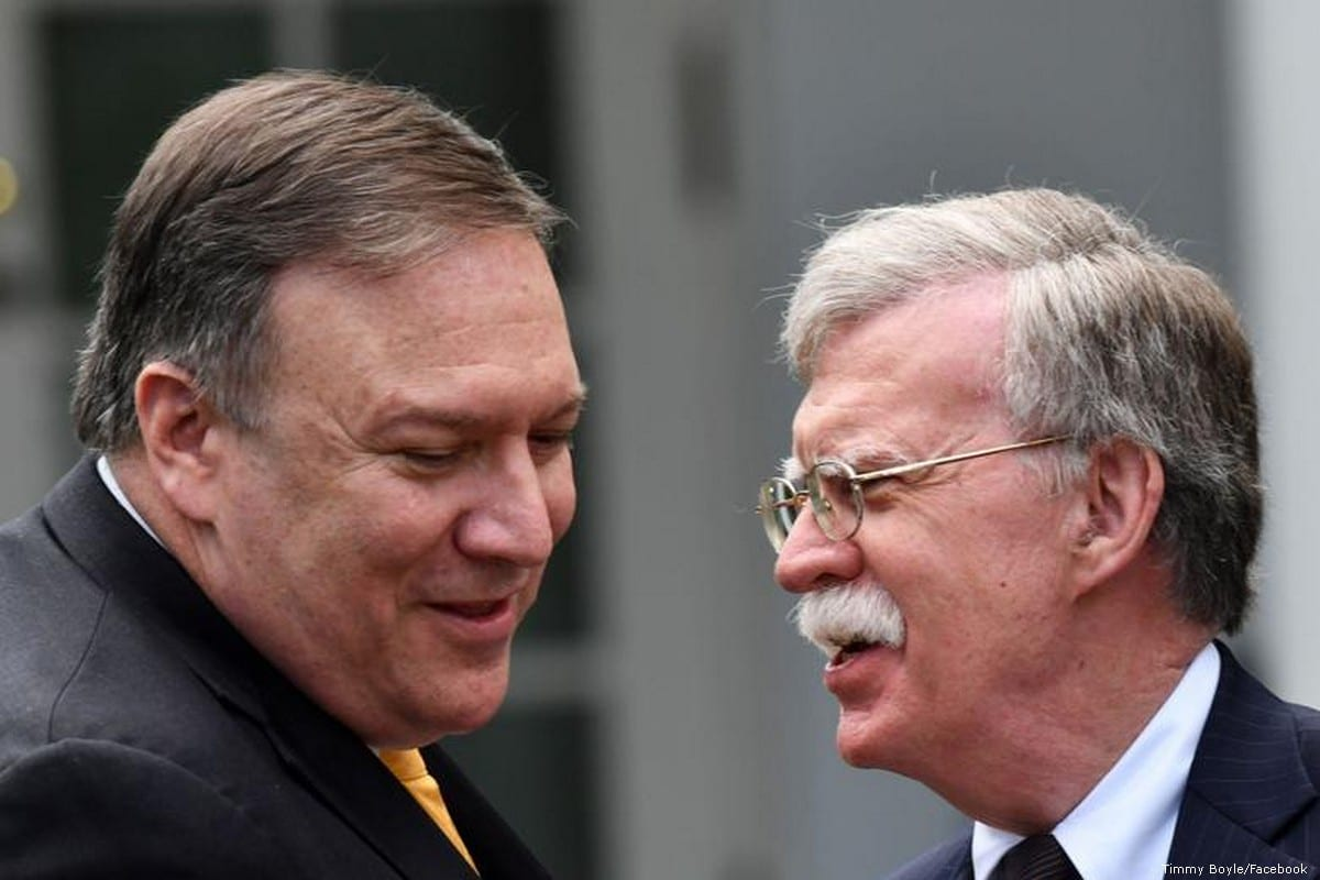 US National Security Adviser John Bolton and Secretary of State Mike Pompeo