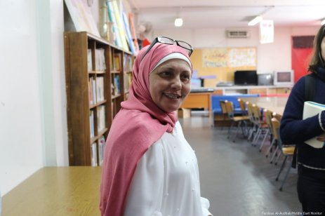 Souad Srej, Principal of the Haifa Preparatory School in Lebanon.