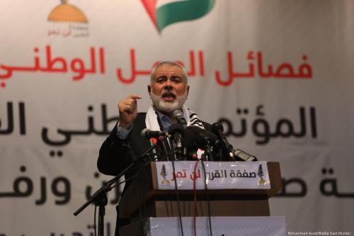Head of the Political Bureau of Hamas Ismail Haniyeh