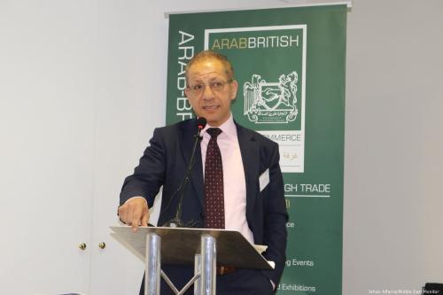 Majdi Khalil, Palestine's Commercial Trade Representative to the UK, at Palestine Entrepreneurship Day, London, UK