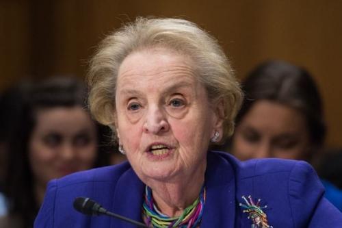 former US State Secretary Mrs Madeleine Albright [Getty]