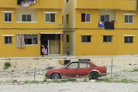 Re-built homes in Nahr Al-Bared are brightly painted, while alleyways and streets are made much wider to allow more light and ventilation. However, residents say that this has come at the cost of the size of each flat and the rooms within it.