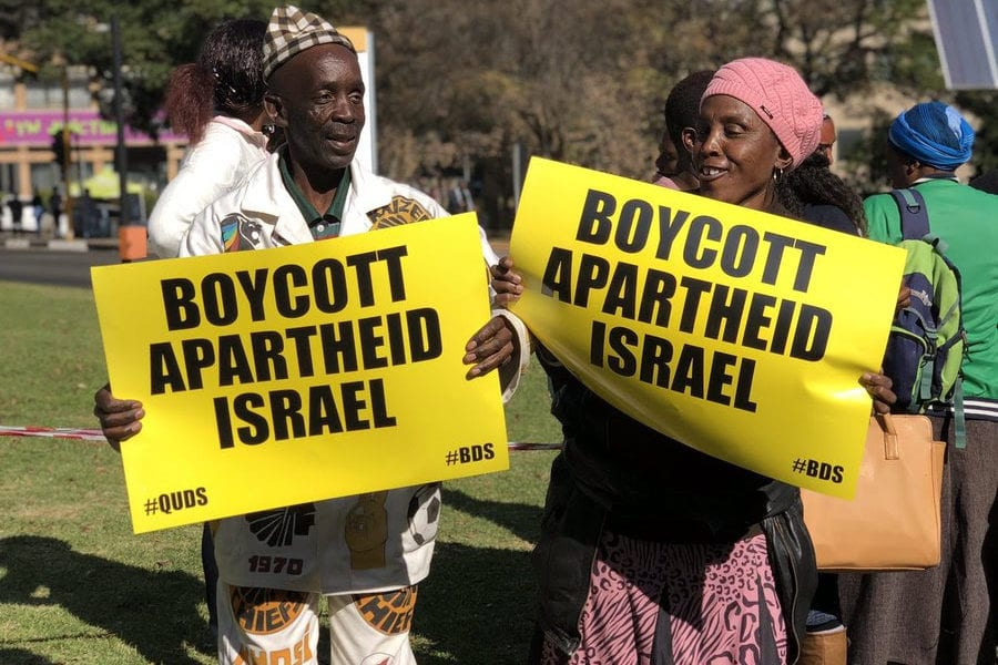 For Quds Day, in Johannesburg, South Africans called on the City Council to adopt a motion to rename Sandton Drive after Palestinian resistance icon, Leila Khaled, on May 31, 2019 [Afro-Palestine Newswire Service]
