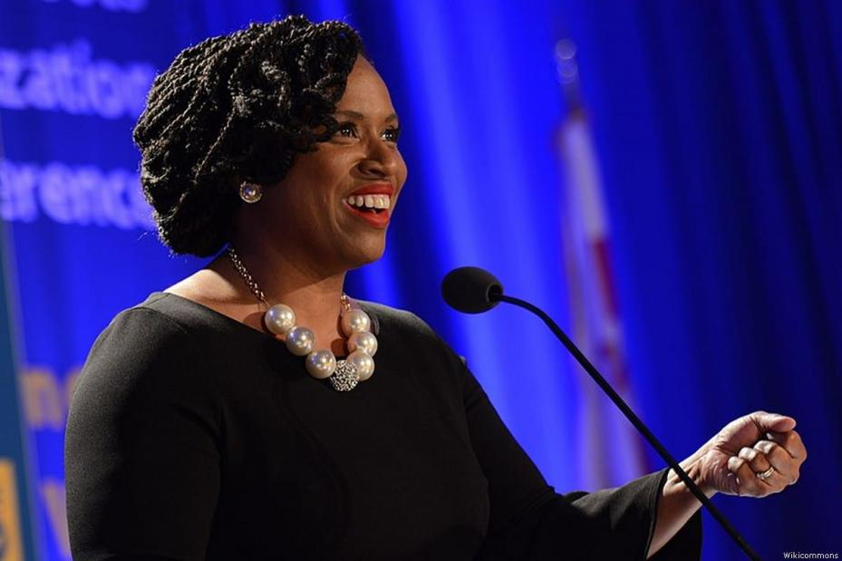 US Congresswoman Ayanna Pressley