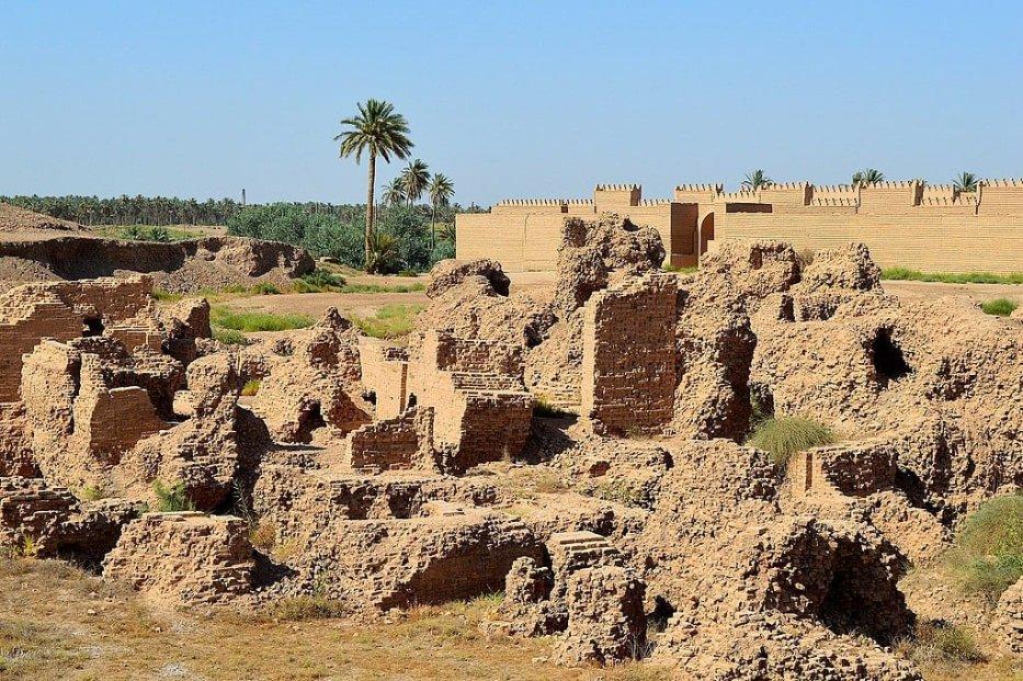 Ruins of Babylon, Mesopotamia, Iraq [Wikipedia]