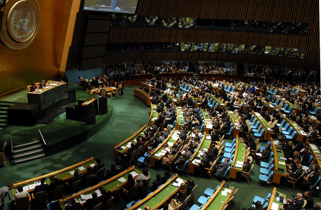 UN meeting on environment at General Assembly [Wikipedia]
