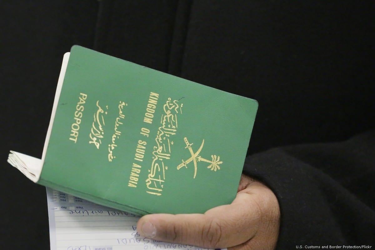 Saudi Arabian passport [U.S. Customs and Border Protection/Flickr]