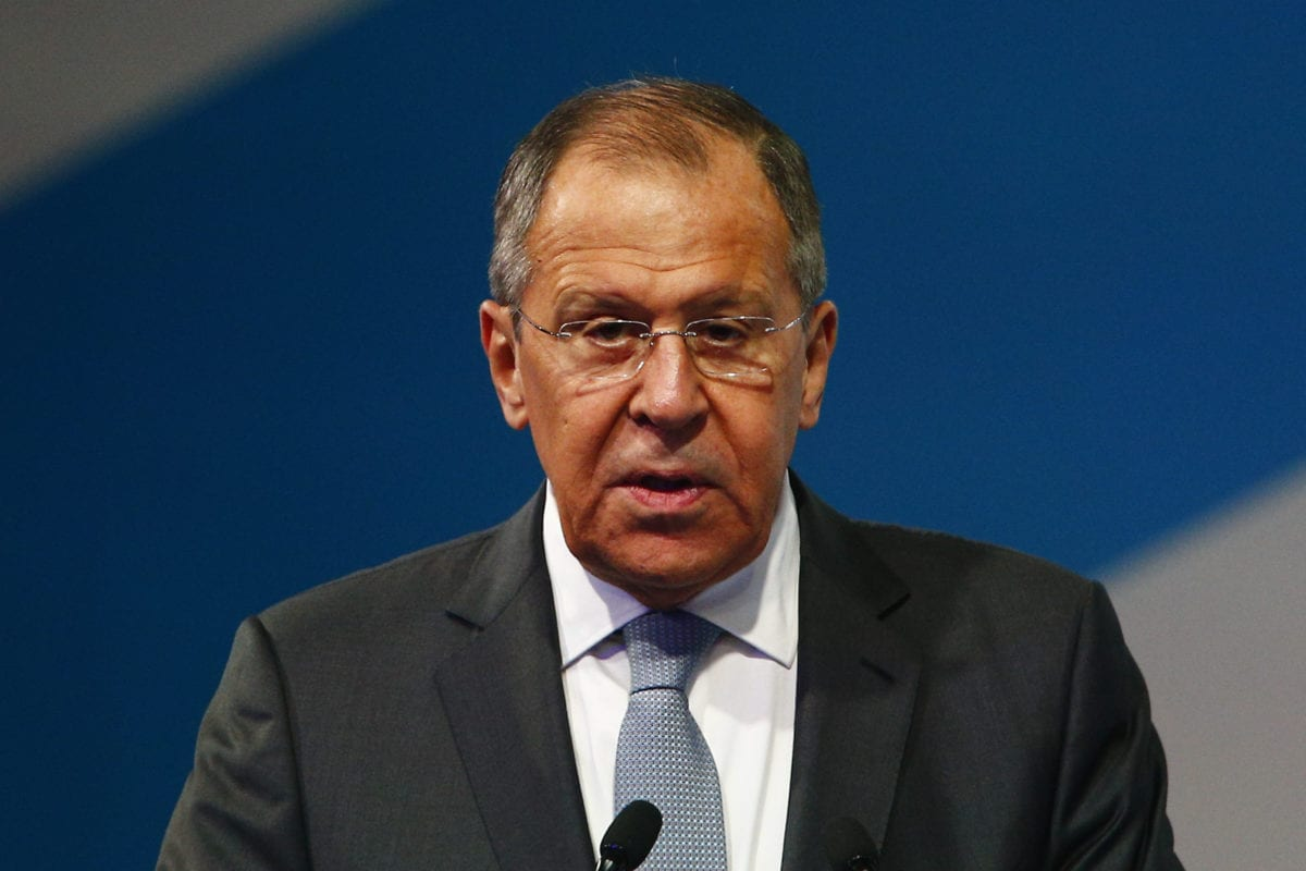 """Russian Foreign Minister Sergei Lavrov makes a speech during the 2nd International Forum """"Development of Parliamentarism"""" in Moscow, Russia on 1 July 2019. [Sefa Karacan - Anadolu Agency]"""