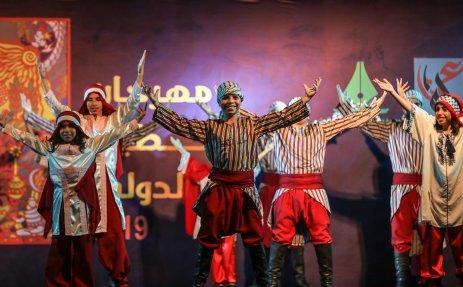 Palestinians perform a folk dance on the 20th Palestinian Festival celebrations in Gaza City, Gaza on 8 July 2019 [Ali Jadallah/Anadolu Agency]