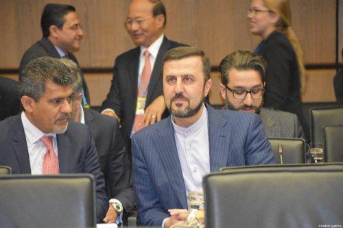 Iran's UN ambassador Kazem Gharibabadi in Vienna, Austria on 10 July 2019 [Aşkın Kıyağan/Anadolu Agency]