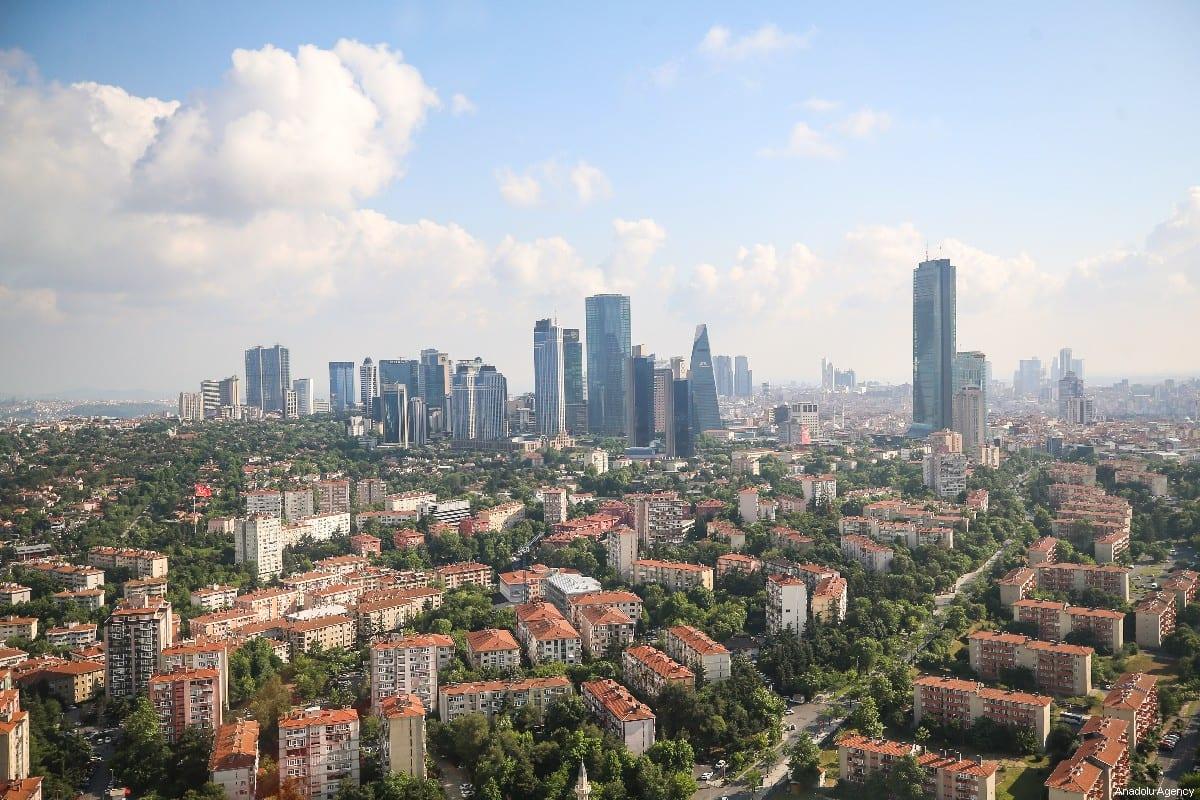 An aerial view of Levent district of Istanbul, Turkey on June 09, 2019 [Muhammed Enes Yıldırım / Anadolu Agency]