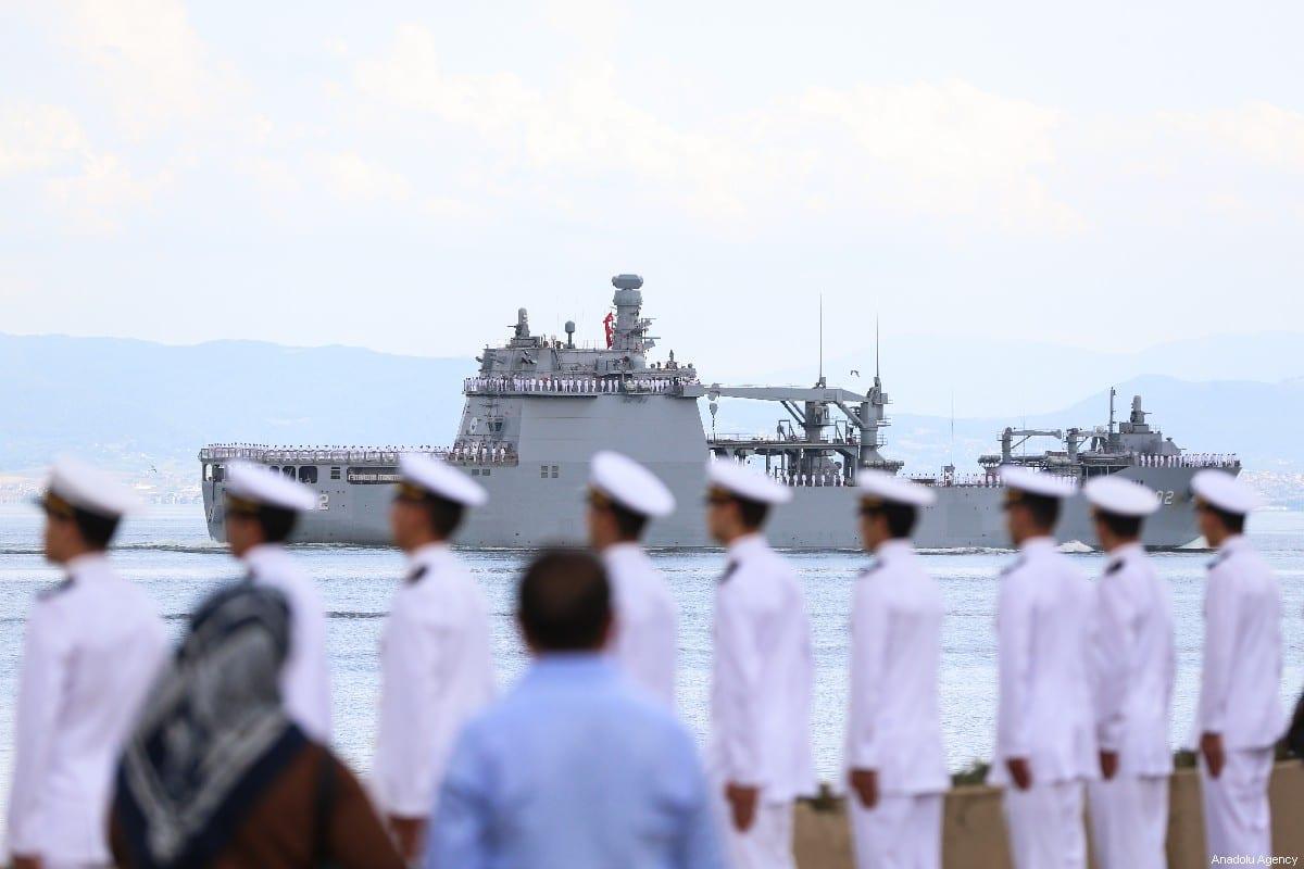 Turkish Navy officers on in Istanbul, Turkey July 12, 2019 [Muhammed Enes Yıldırım/Anadolu Agency]