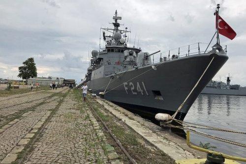 A view of F241 TCG Turgutreis frigate ahead of the NATO's 'Breeze 2019' Maritime Exercise, in Varna, Bulgaria on July 15, 2019 [İhvan Radoykov/Anadolu Agency]