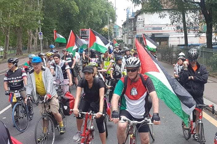 The Big Ride for Palestine in London, on 27 July 2019 [Ovais Mughal]