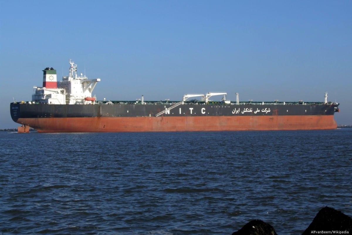Iranian oil tanker [AlfvanBeem/Wikipedia]