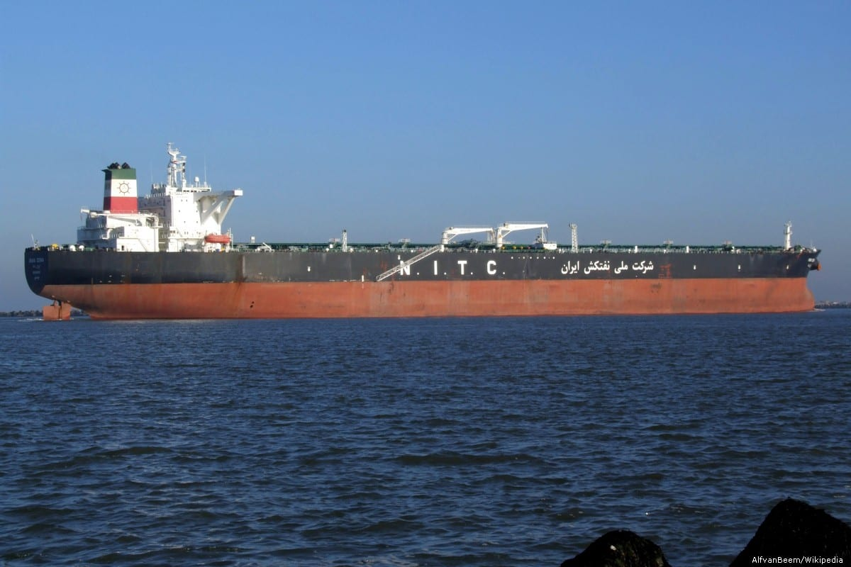 An Iranian oil tanker, Dena, seen approaching Port of Rotterdam, Holland on December 15, 2007 [AlfvanBeem/Wikipedia]