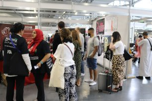 Guests are seen at the Palestine Expo 2019 on 6 July 2019 in London, UK [Middle East Monitor]