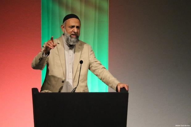 Ismail Patel, chair of the Friends of Al-Aqsa, the organisers of Palestine Expo, seen at the Palestine Expo 2019 on 6 July 2019 in London, UK [Middle East Monitor]