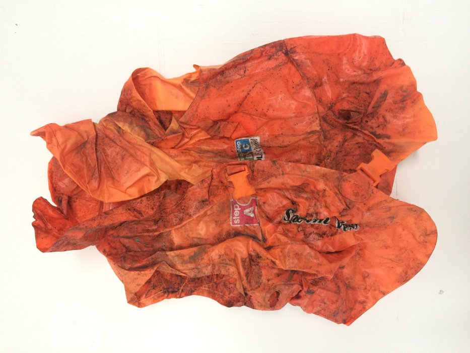 'This is not a life-saving device and should only be used under adult supervision', child's lifejacket from shipwrecked migrant boat, 2017