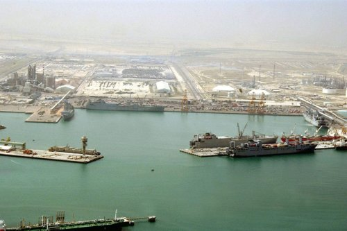 Aerial view of the port of Ash Shuaybah, Kuwait, as seen on March 1, 2004 [Eric L. Beauregard / US DoD]