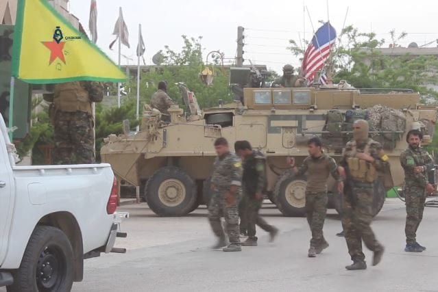 YPG and US army in Hasakeh on 1 May 2017 [Wikipedia]