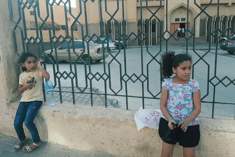 Hams, 8, and Haya, 6, daughters of Aya Alaa Hosni [Facebook]