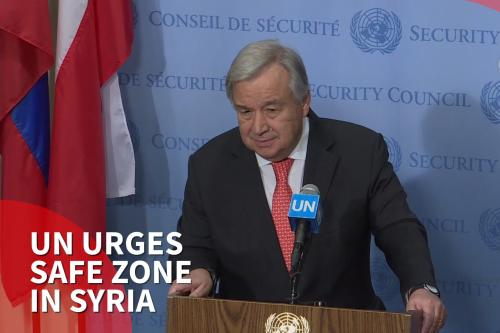Thumbnail - UN calls for safe Zone in Syria