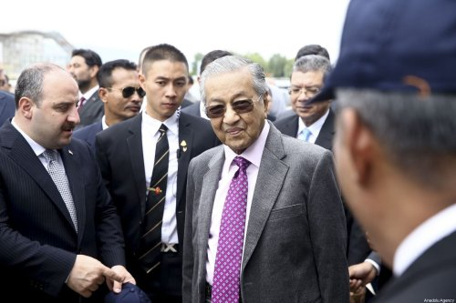 Malaysian Prime Minister Mahathir Mohamad (R) and Turkish Industry and Technology Minister Mustafa Varank (L) visit to Turkish Aerospace Industries (TUSAS) in Ankara, Turkey on July 25, 2019 [Erçin Top / Anadolu Agency]