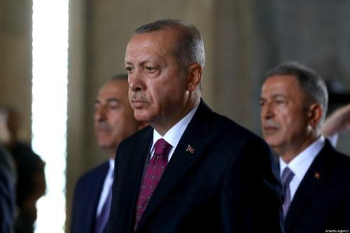 President of Turkey, Recep Tayyip Erdogan visits Anitkabir, the mausoleum of Turkish Republic's Founder Mustafa Kemal Ataturk, with members of Supreme Military Council, in Ankara, Turkey on 1 August 2019. [Volkan Furuncu - Anadolu Agency]
