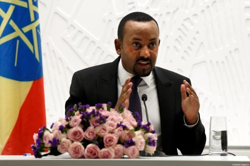 Prime Minister of Ethiopia, Abiy Ahmed speaks during a press conference in Addis Ababa, Ethiopia on 1 August 2019 [Minasse Wondimu Hailu/Anadolu Agency]