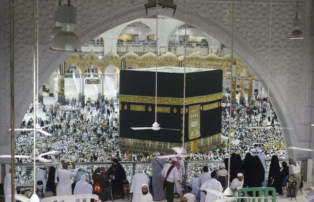 Muslim prospective Hajj pilgrims circumambulate the Kaaba at Masjid al-Haram in Makkah, Saudi Arabia on 12 August, 2019 [Halil Sağırkaya/Anadolu Agency]