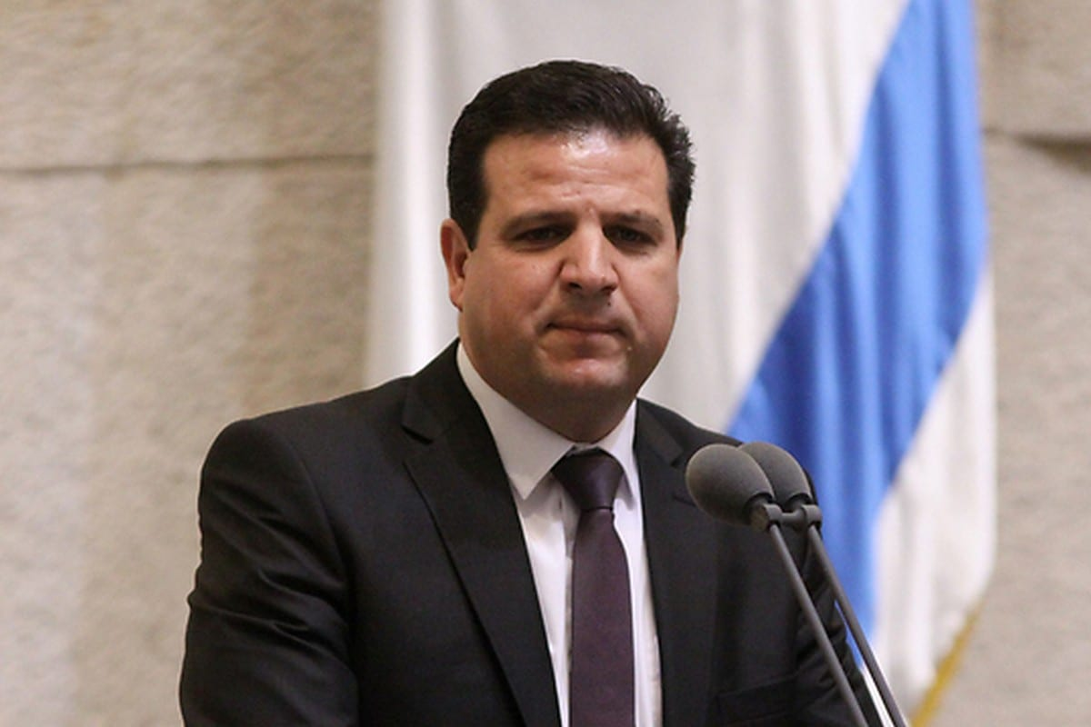 Ayman Odeh (R) member of the Knesset and head of the Joint List