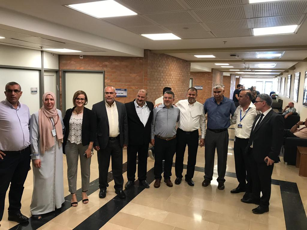 MK Mtanes Shehadeh, MK Yousef Jabareen, MK Mansour Abbas and MK Ahmad Tibi and other members of Joint Arab list