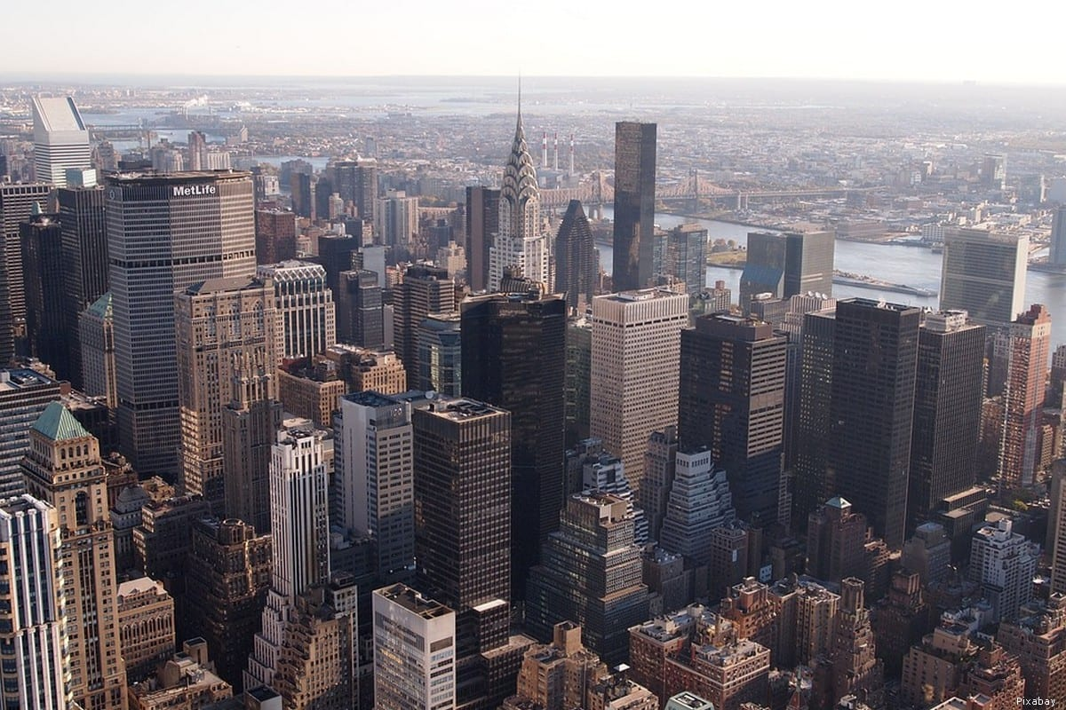 General view of Manhattan in New York, US