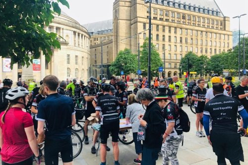 The Big Ride for Palestine in Manchester, on 3 August 2019 [The Big Ride for Palestine]