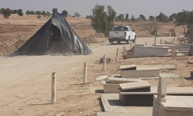 Israeli occupation forces demolish the village of Al Araqeeb for the 149th time