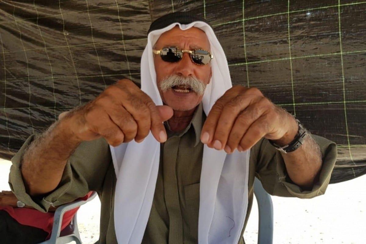 Sayah Al-Turi, the village leader of Al-Araqeeb