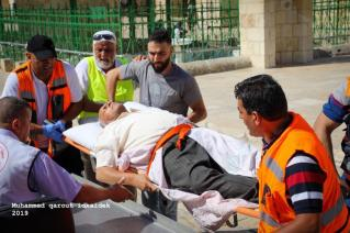Israeli forces attacked Palestinian worshippers in Jerusalem's flashpoint Al-Aqsa mosque complex on Sunday 11 August 2019
