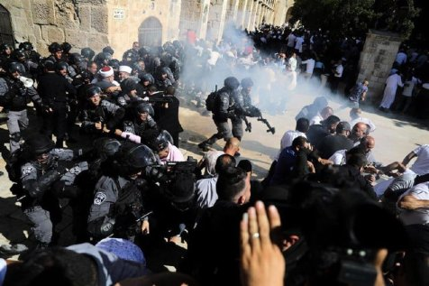 Israeli forces attacked Palestinian worshippers in Jerusalem's flashpoint Al-Aqsa mosque complex on Sunday 11 August 2019 [PalestinePost24]