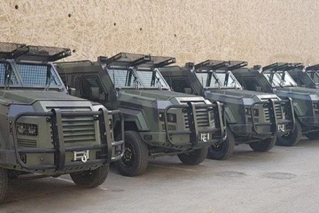 The armoured vehicles the PA received from Jordan [Maan News Agency]