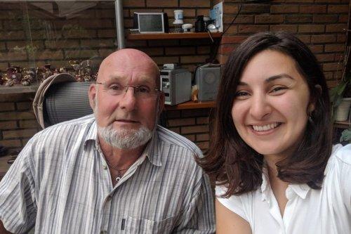 Iraqi Mevan Babakar and the aid worker [Mervan - Twitter]