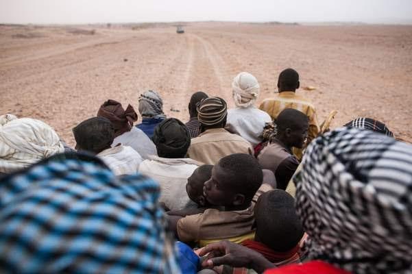 Migrants left in the desert