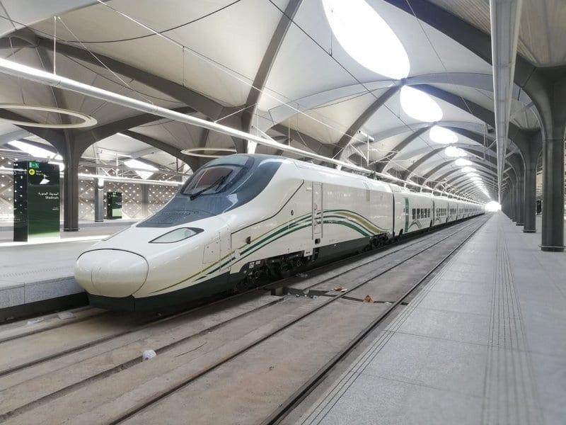 A train seen in Haramain high-speed rail station in Saudi Arabia's coastal city of Jeddah [undated / صحيفة سبق / Wikimedia]