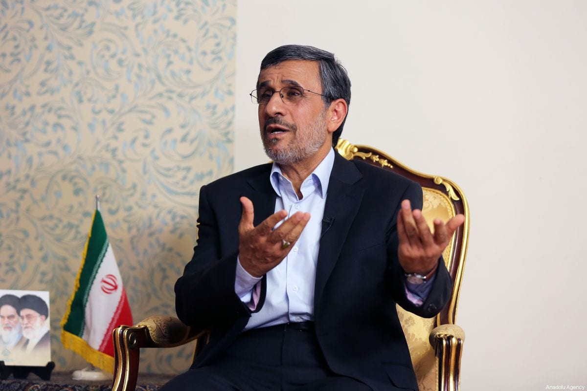 Former President of Iran Mahmoud Ahmadinejad speaks during an exclusive interview in Tehran, Iran on September 3, 2019 [Fatemeh Bahrami - Anadolu Agency]