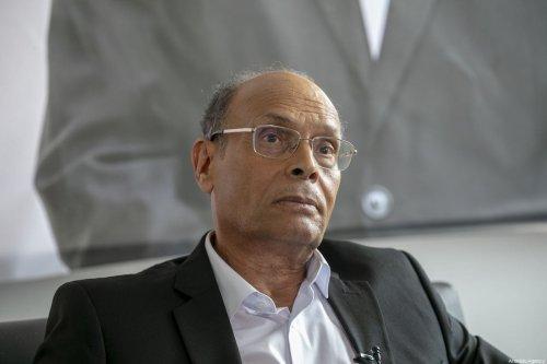 Former Tunisian President Moncef Marzouki in Tunis, Tunisia on 1 September 2019 [Yassine Gaidi/Anadolu Agency]