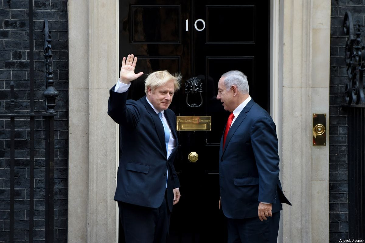 British Prime Minister Boris Johnson meets with Israeli Prime Minister Benjamin Netanyahu at No. 10 Downing Street, in London, UK on 5 September 2019 [Kate Green/Anadolu Agency]