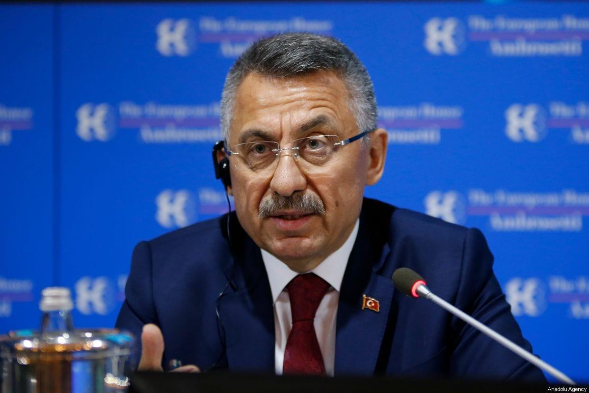 Turkish Vice President Fuat Oktay makes a speech at Ambrosetti Forum in Cernobbia, Italy on 6 September 2019. [Muhammet Fatih Oğraş - Anadolu Agency]