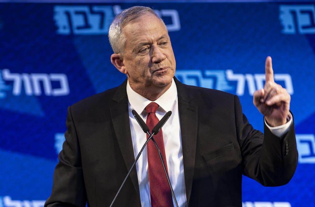 Leader of the Blue and White political alliance, former chief of staff of the Israeli army, Benny Gantz in Tel Aviv, Israel, 15 September 2019 [Faiz Abu Rmeleh/Anadolu Agency]